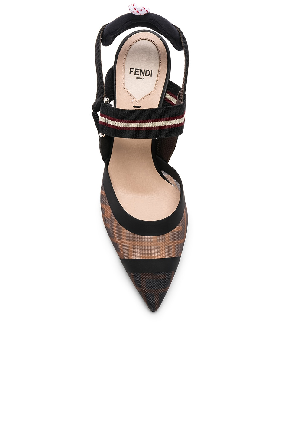 Image 4 of Fendi Colibri Slingback Heels in Black