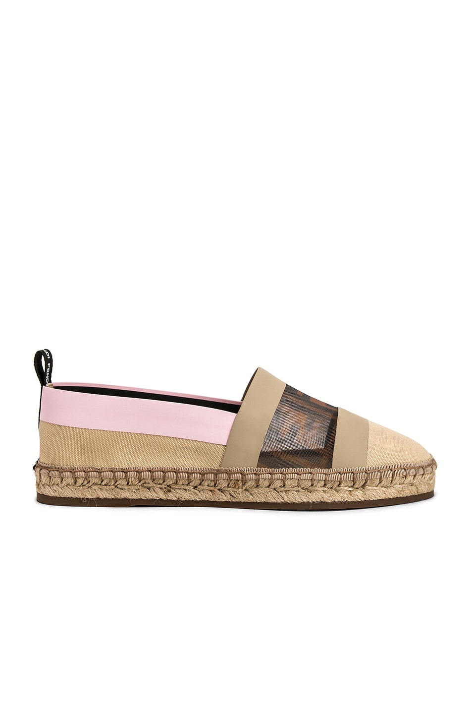 Image 1 of Fendi Mesh Espadrille Flats in Cream