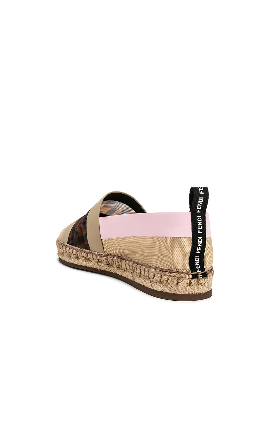 Image 3 of Fendi Mesh Espadrille Flats in Cream