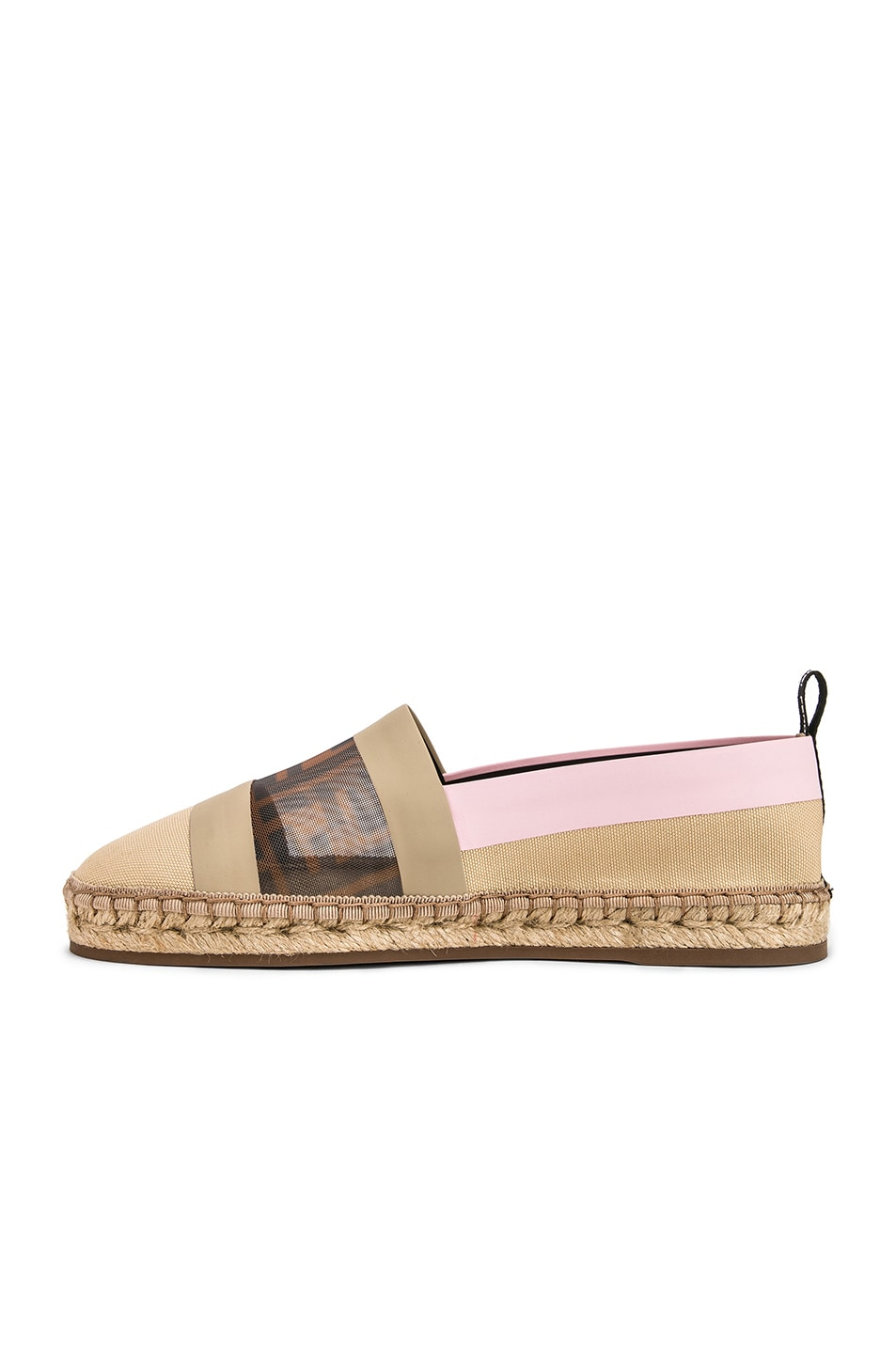 Image 5 of Fendi Mesh Espadrille Flats in Cream