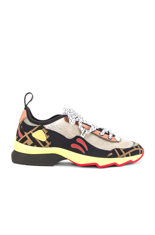 Image 1 of Fendi Logo Sneaker in Multi