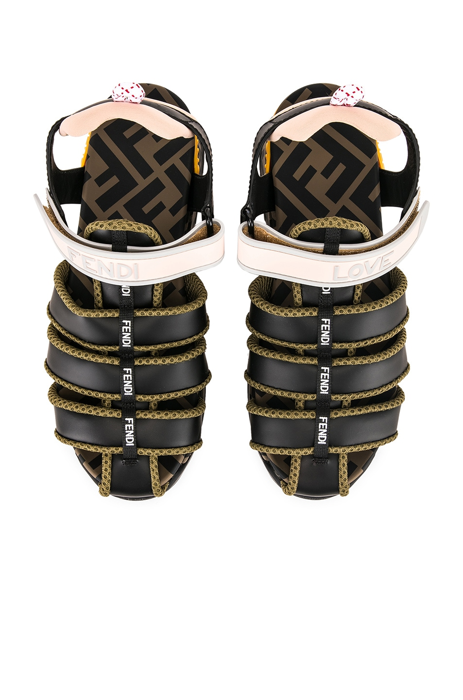 Image 1 of Fendi T Rex Sandals in Black