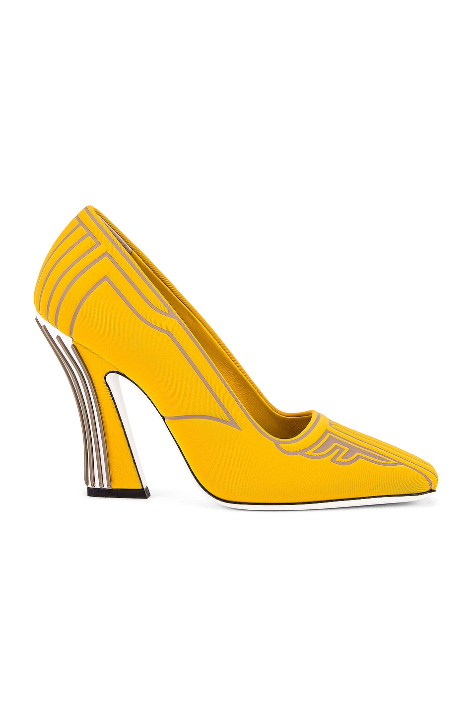 Image 1 of Fendi FFreedom Heel in Yellow