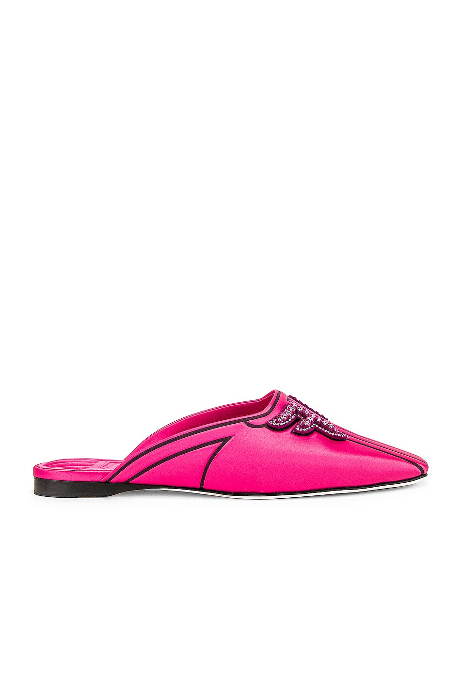 Image 1 of Fendi FFreedom Satin Slide in Magenta