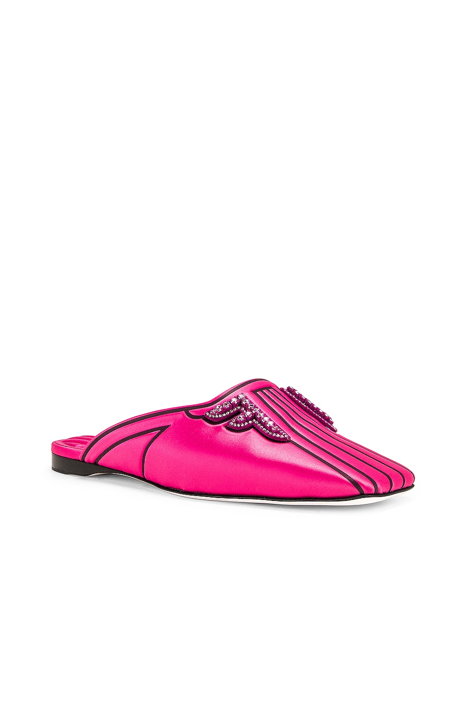 Image 2 of Fendi FFreedom Satin Slide in Magenta