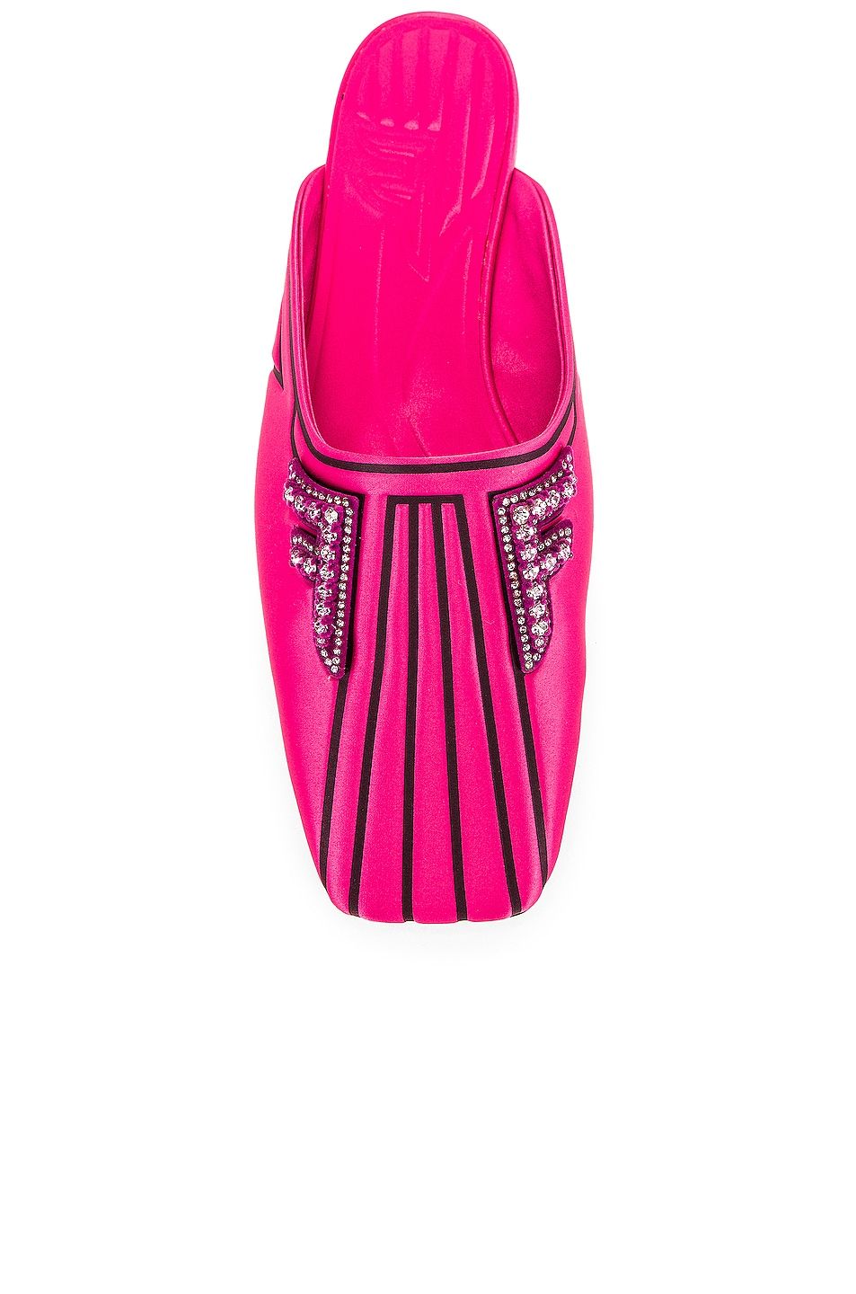 Image 4 of Fendi FFreedom Satin Slide in Magenta