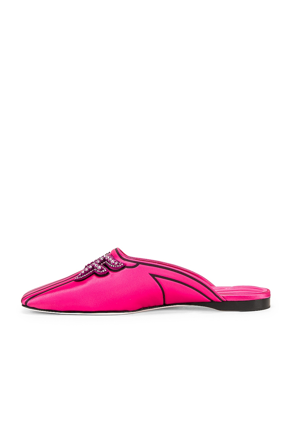 Image 5 of Fendi FFreedom Satin Slide in Magenta