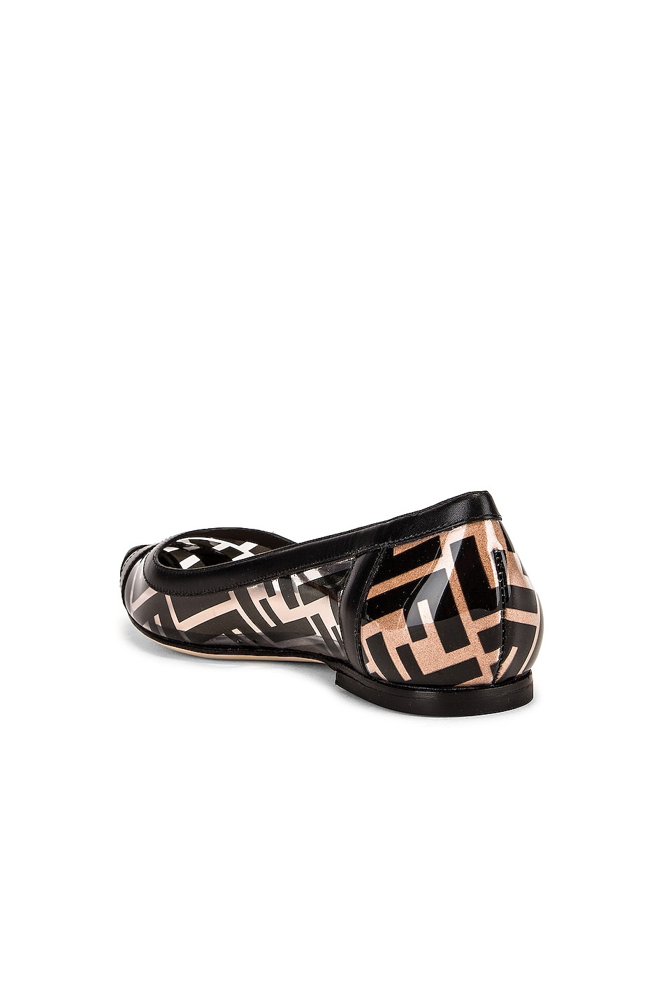 Image 3 of Fendi Logo Flats in Black