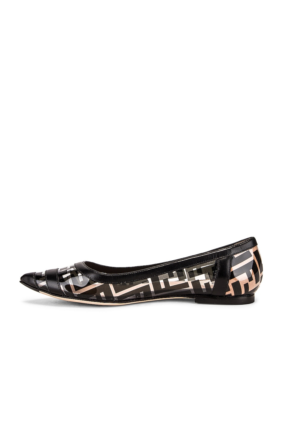 Image 5 of Fendi Logo Flats in Black