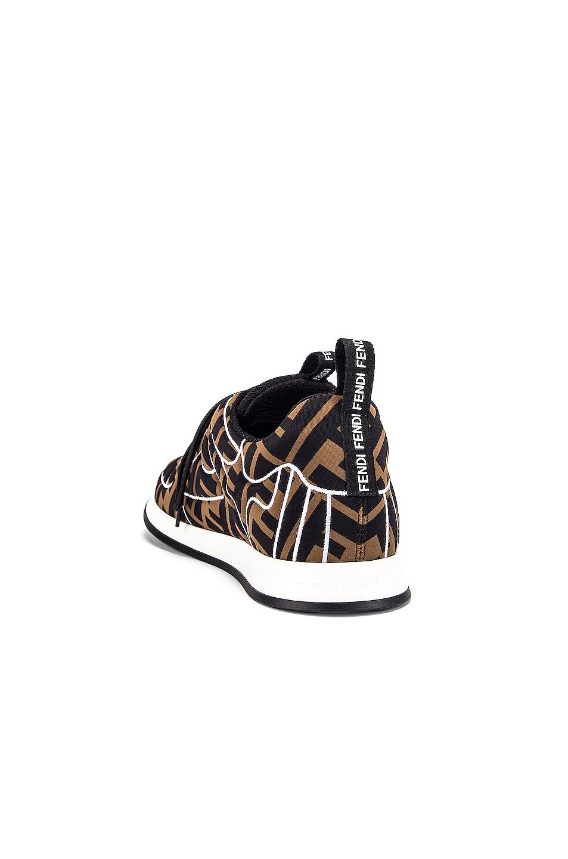 Image 3 of Fendi FFreedom Logo Sneakers in Brown & Black