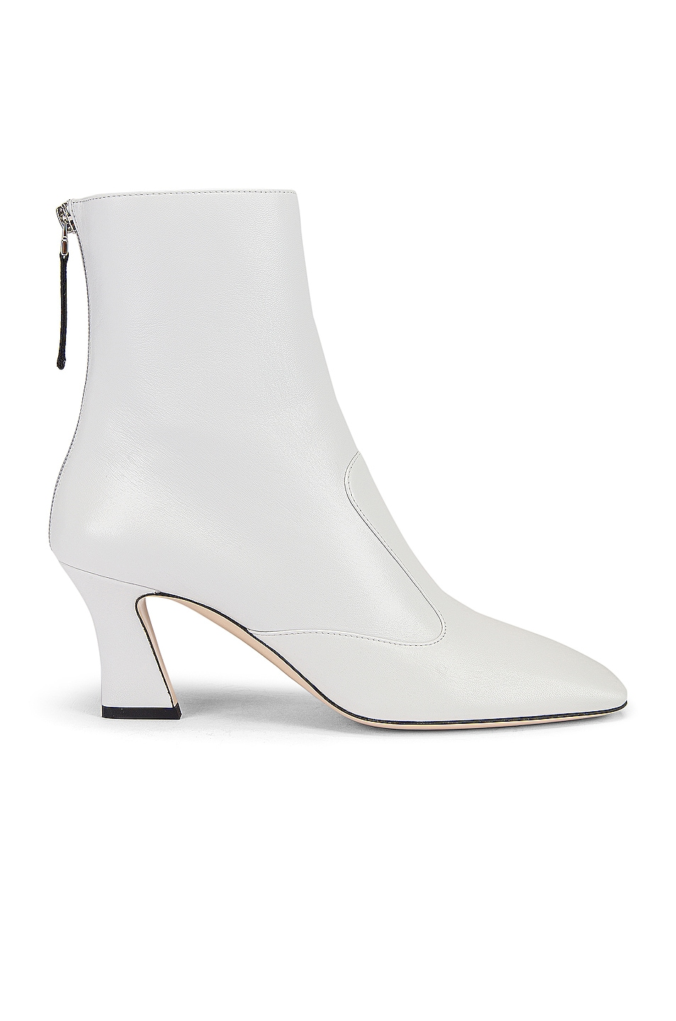Image 1 of Fendi Leather Ankle Booties in White