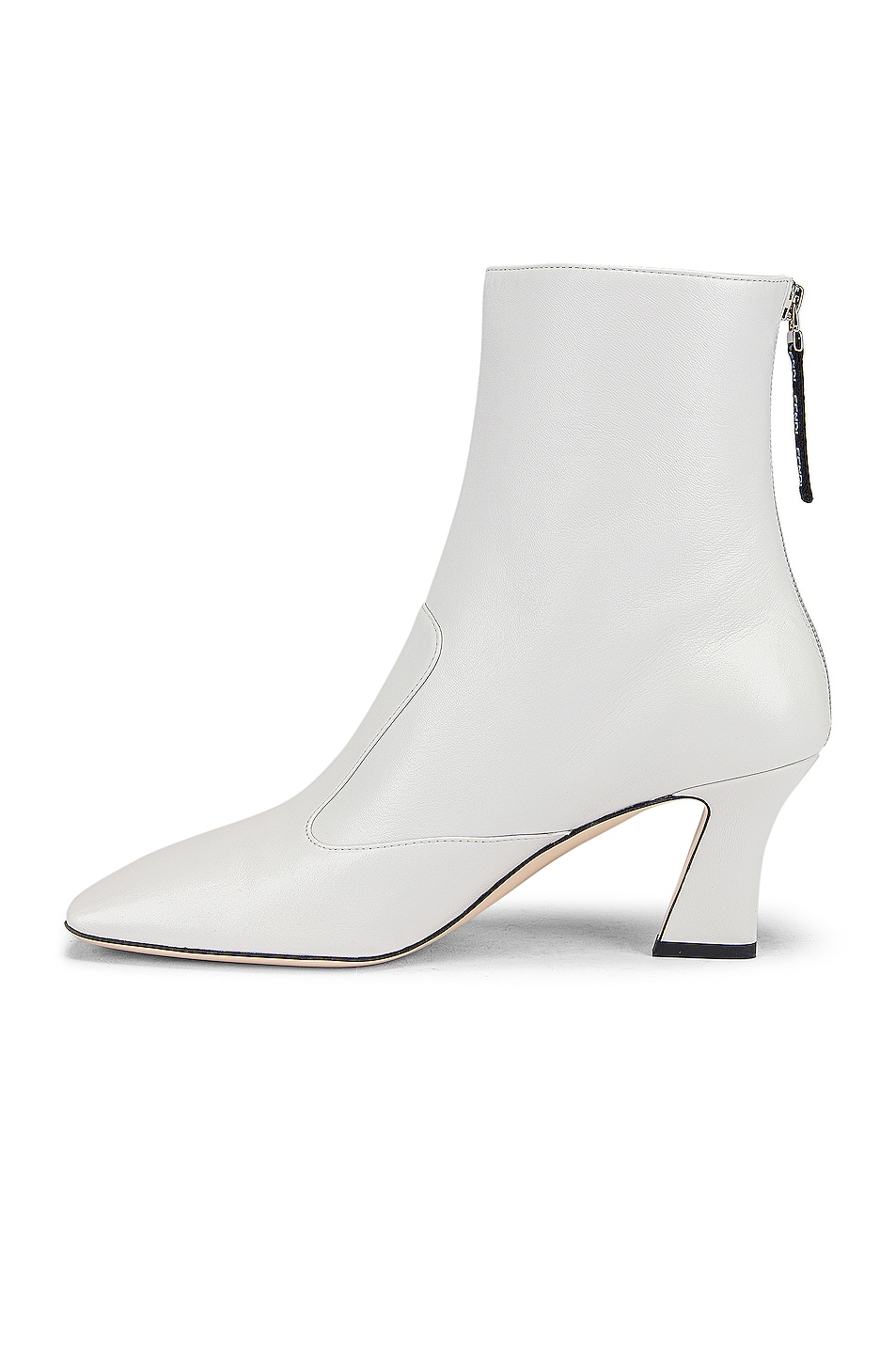 Image 5 of Fendi Leather Ankle Booties in White