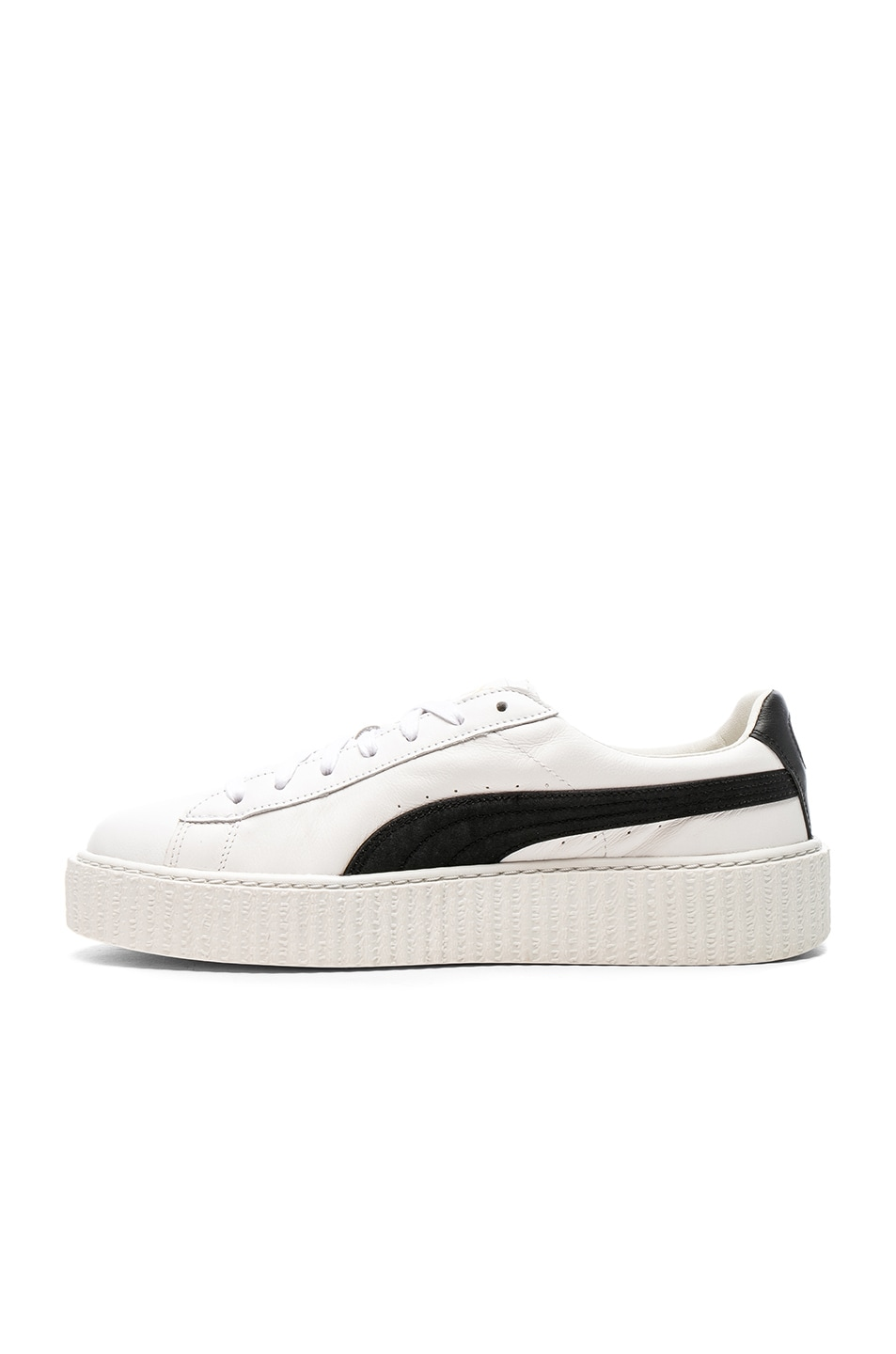 hot sale online 56615 c6b7e Fenty by Puma Cracked Leather Creepers in Black & White   FWRD