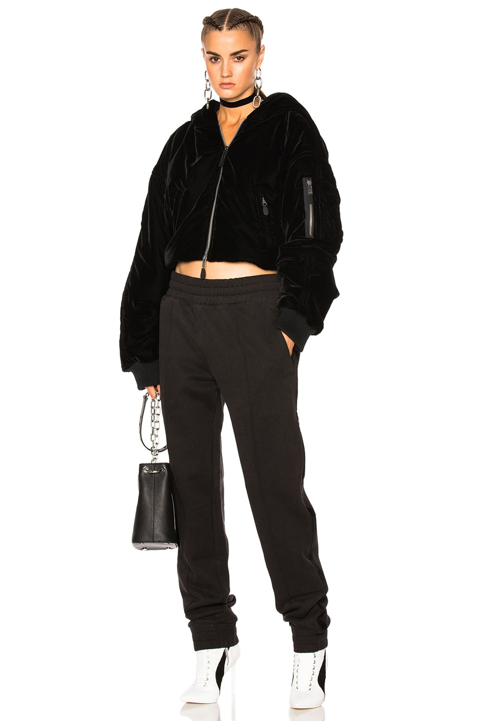 Image 1 of Fenty by Puma Cropped Bomber in Black