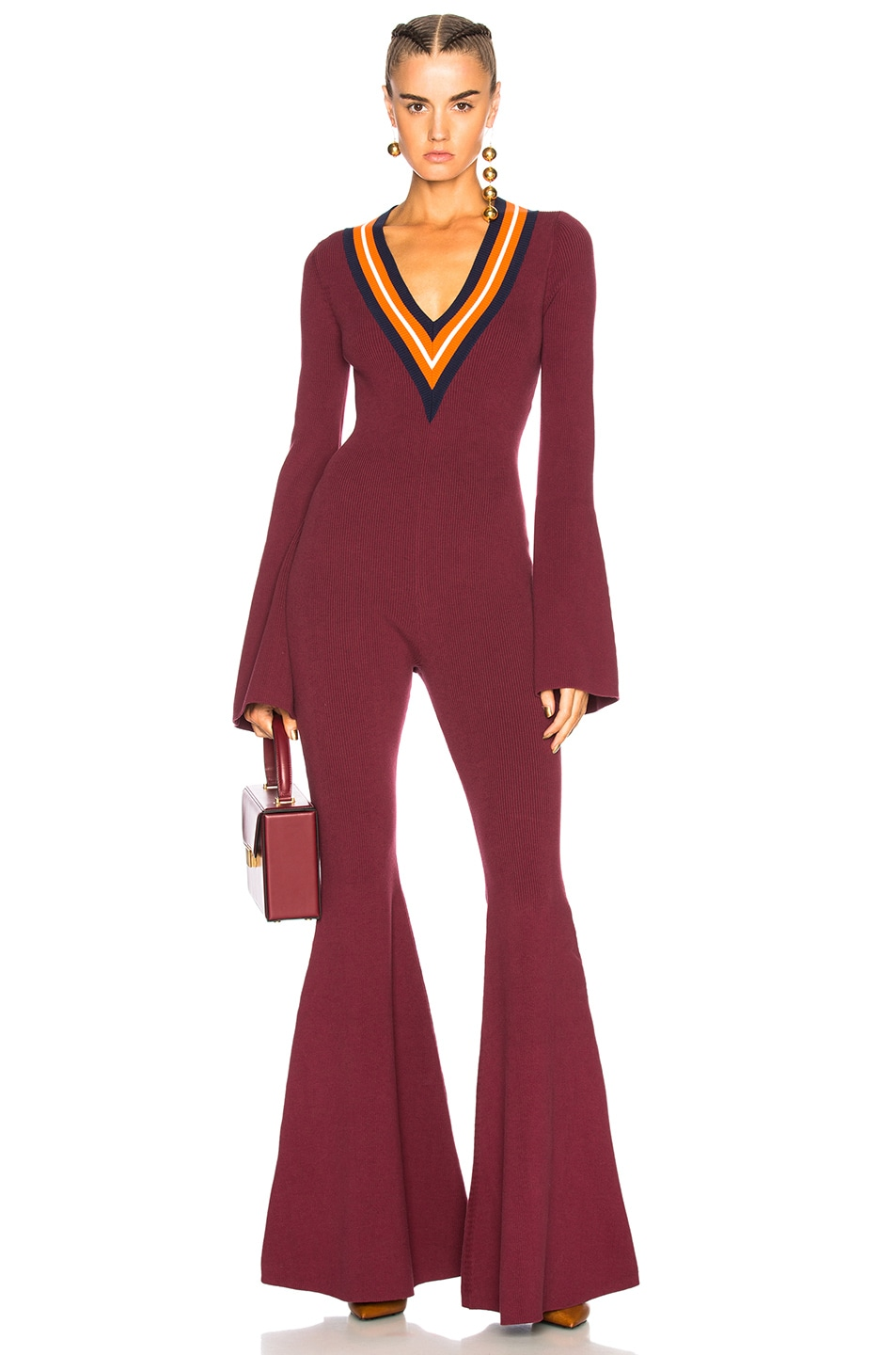 12aa0a6e8db1 Image 1 of Fenty by Puma Sweater Jumpsuit in Port