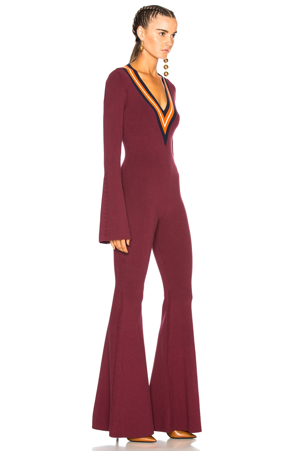 6ec5555674c9 Image 2 of Fenty by Puma Sweater Jumpsuit in Port