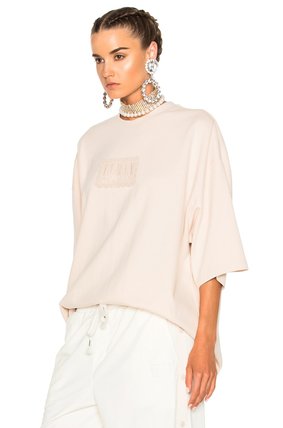 Image 2 of Fenty by Puma Oversized Crewneck Tee in Pink Tint