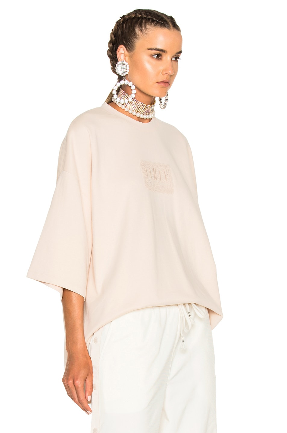 Image 3 of Fenty by Puma Oversized Crewneck Tee in Pink Tint