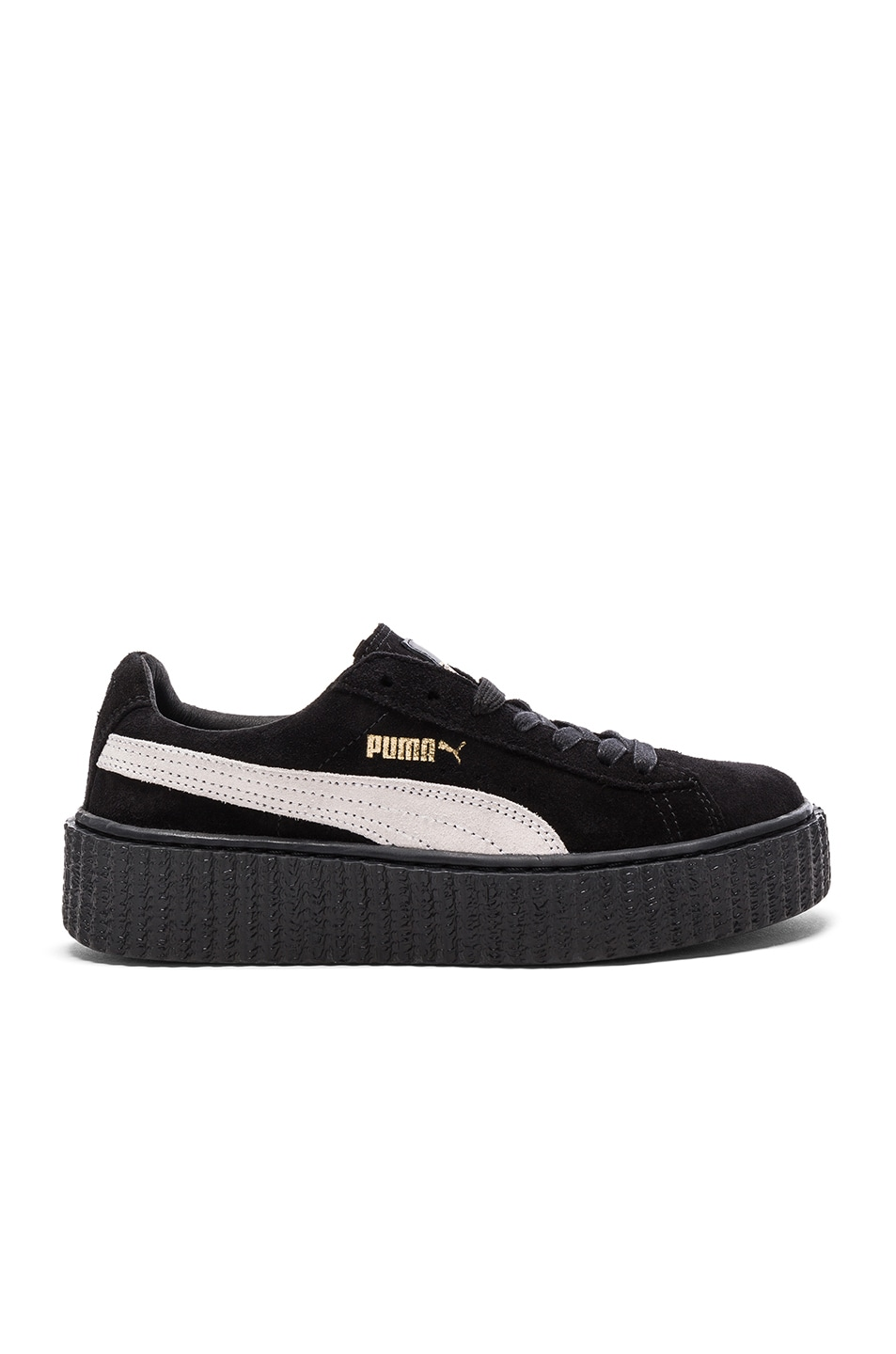 Image 1 of Fenty by Puma Suede Creepers in Black & White