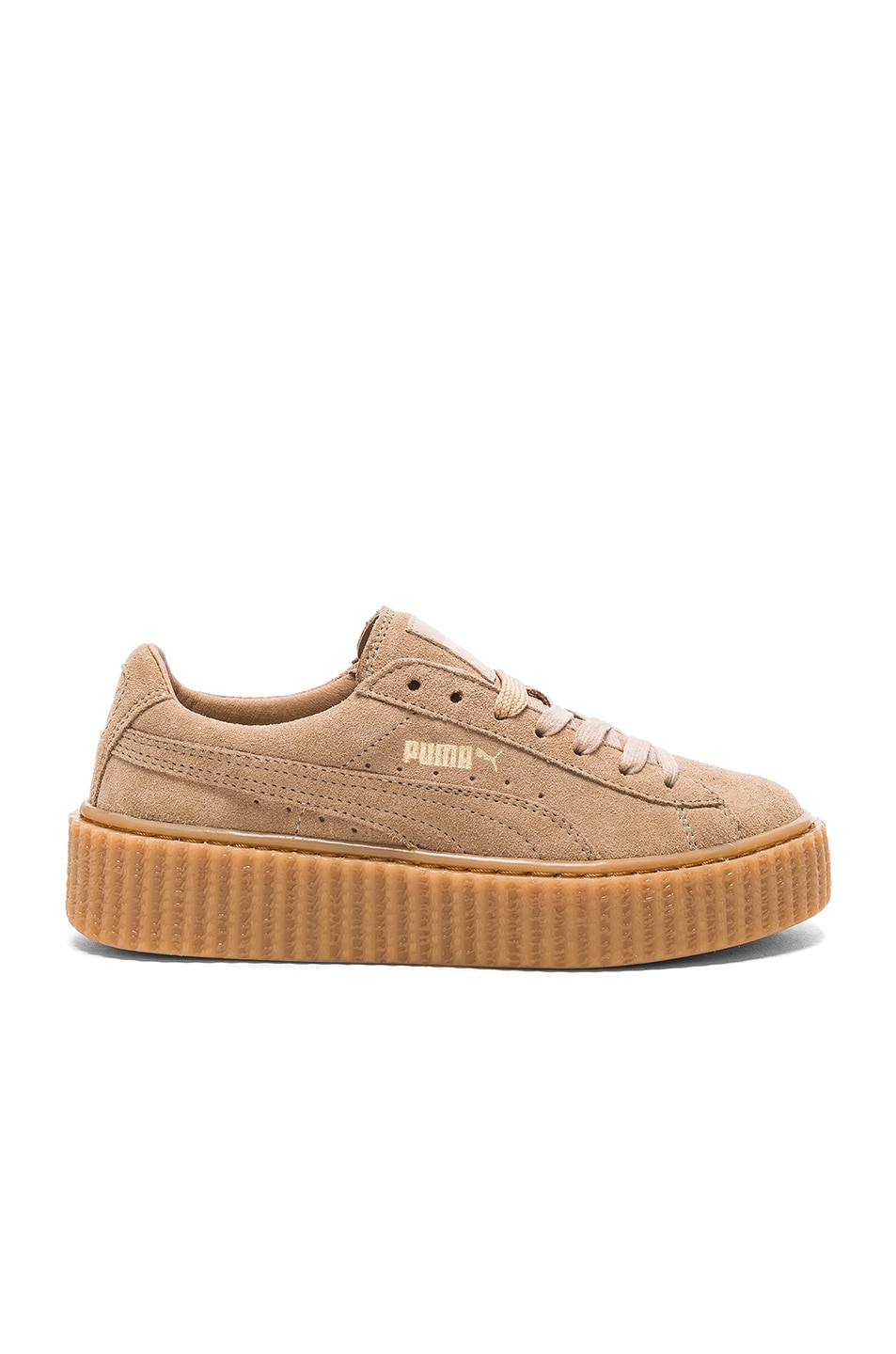 Image 1 of Fenty by Puma Suede Creepers in Oatmeal