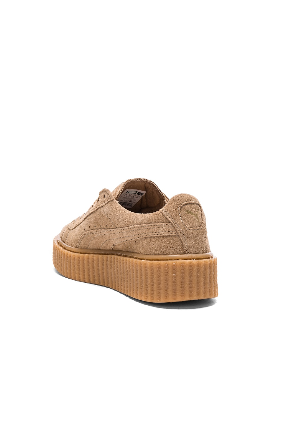 Image 3 of Fenty by Puma Suede Creepers in Oatmeal