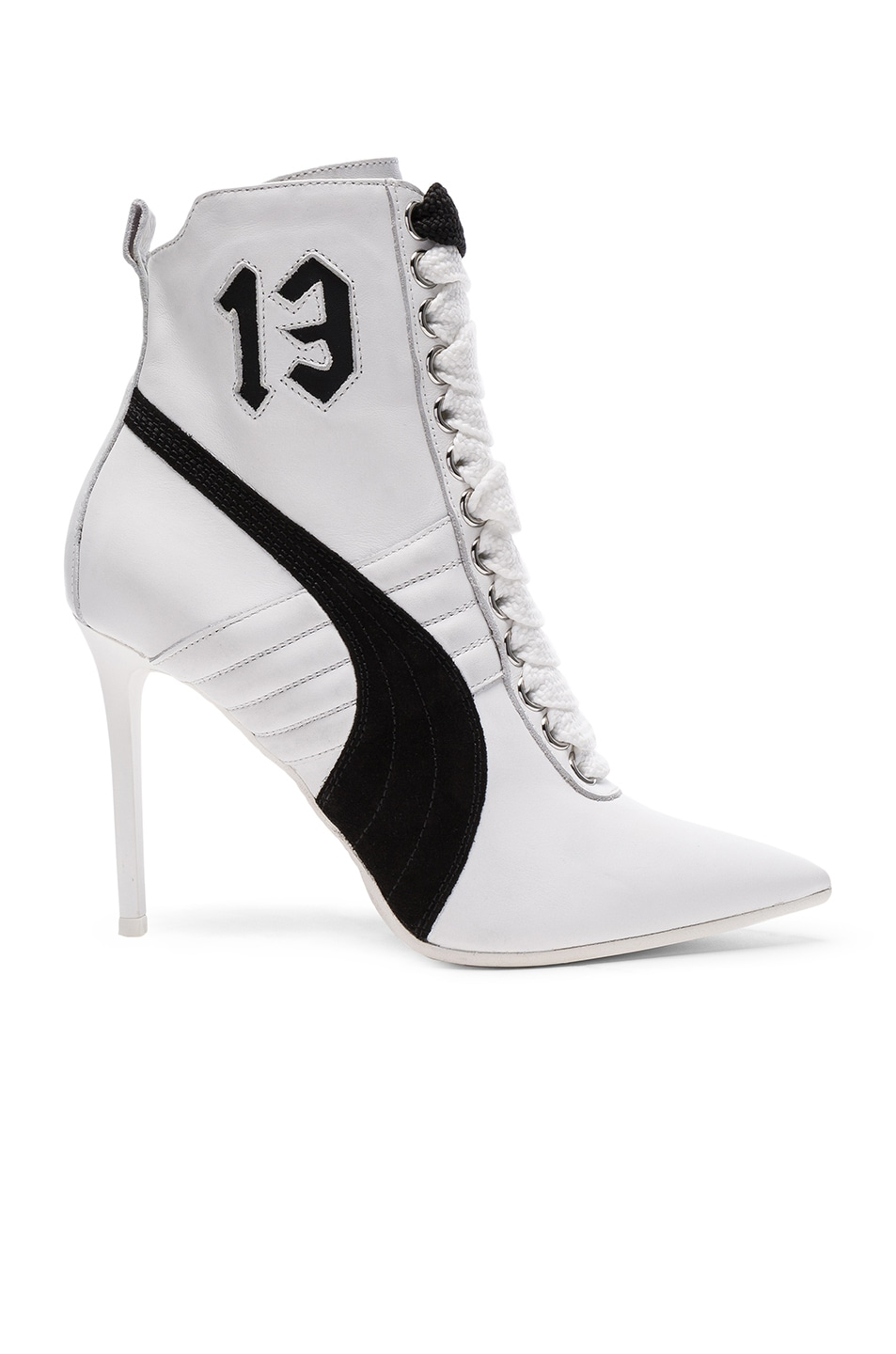Image 1 of Fenty by Puma Leather High Heel Sneakers in White
