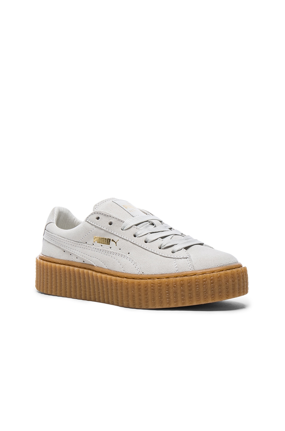 Image 2 of Fenty by Puma Suede Creepers in Star White