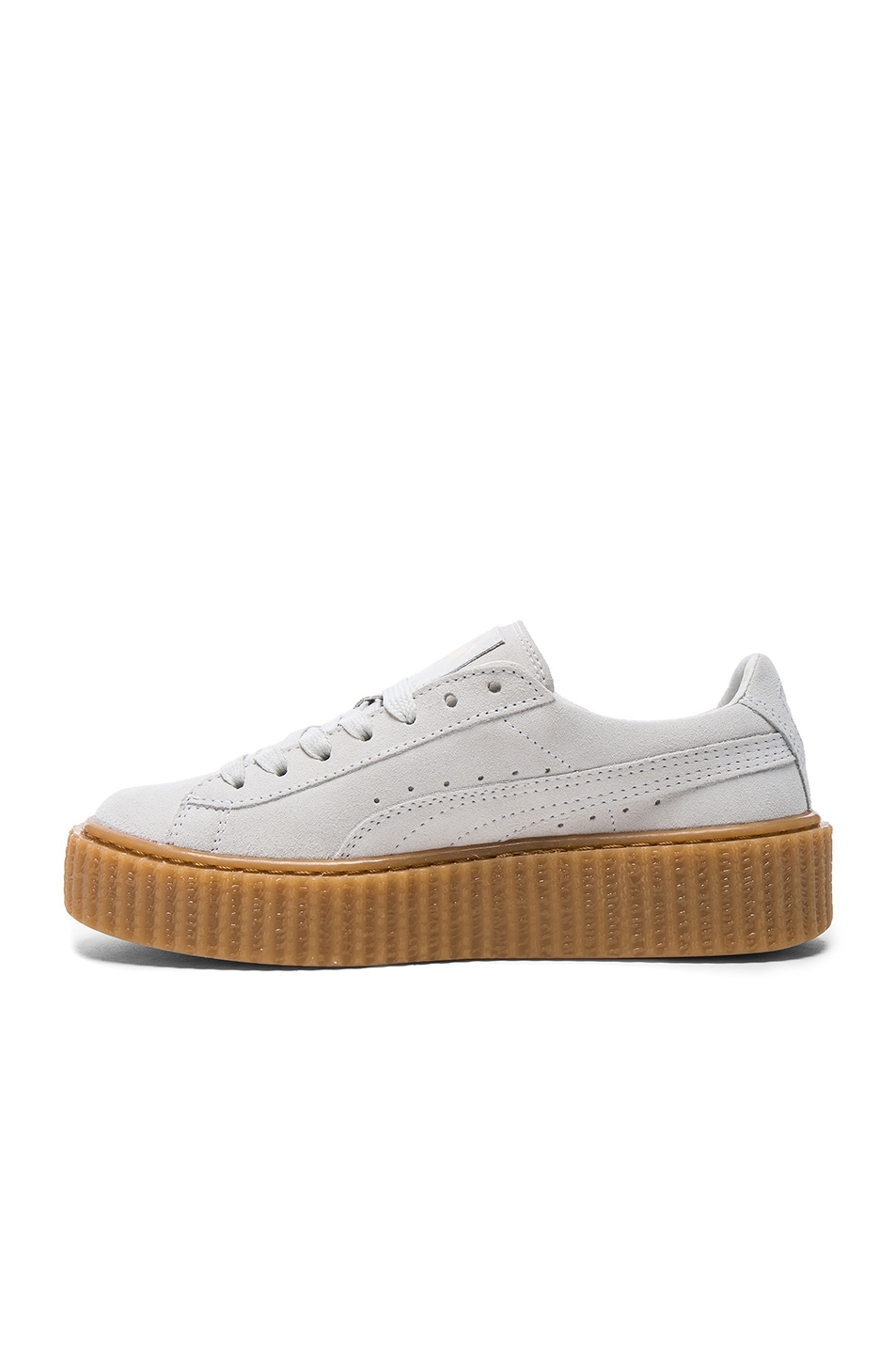 Image 5 of Fenty by Puma Suede Creepers in Star White