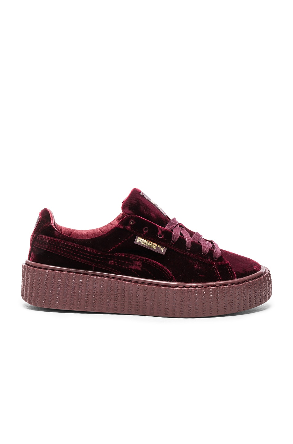 Image 1 of Fenty by Puma Creepers Velvet in Royal Purple