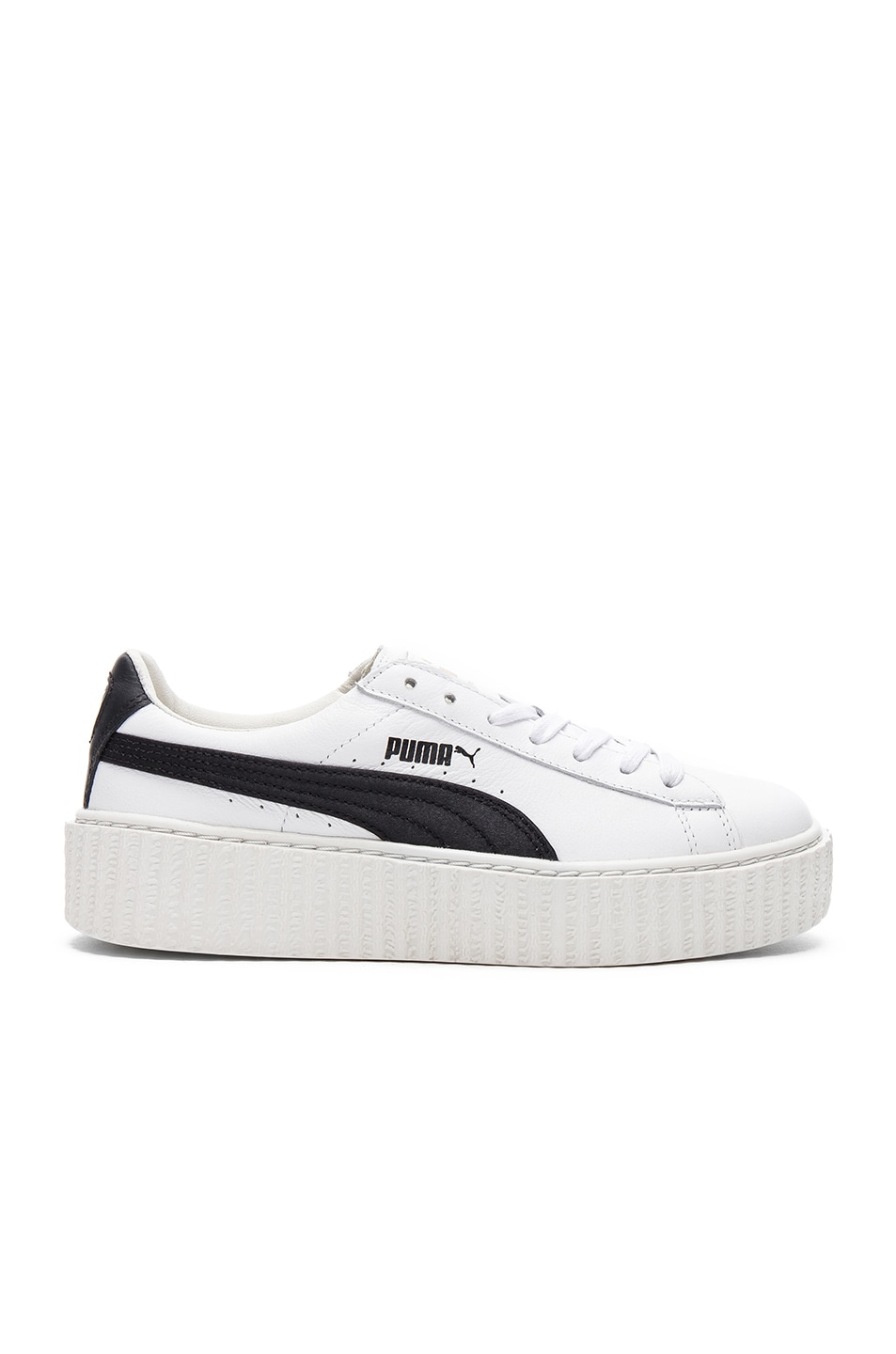 Image 1 of Fenty by Puma Leather Creeper Sneakers in Black & White