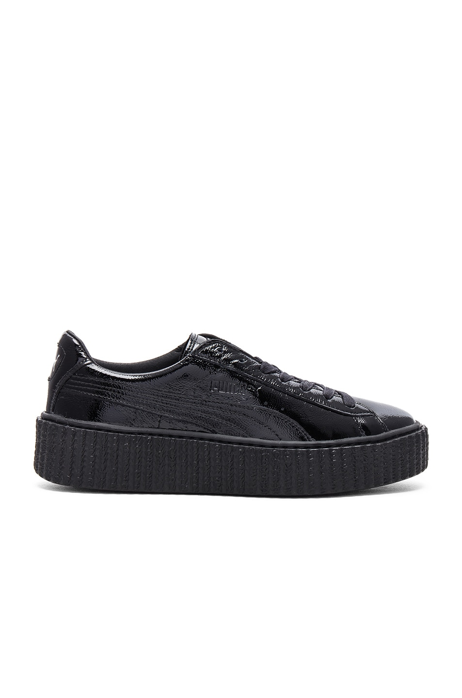 Image 1 of Fenty by Puma Patent Leather Creeper Sneakers in Black