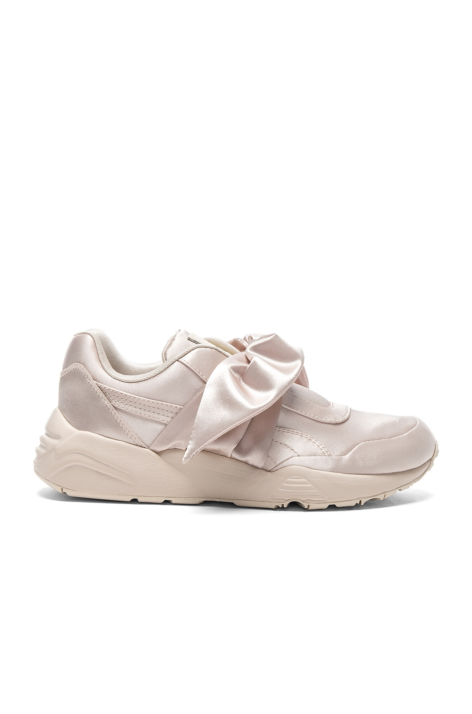 Image 1 of Fenty by Puma Bow Satin Sneakers in Pink Tint