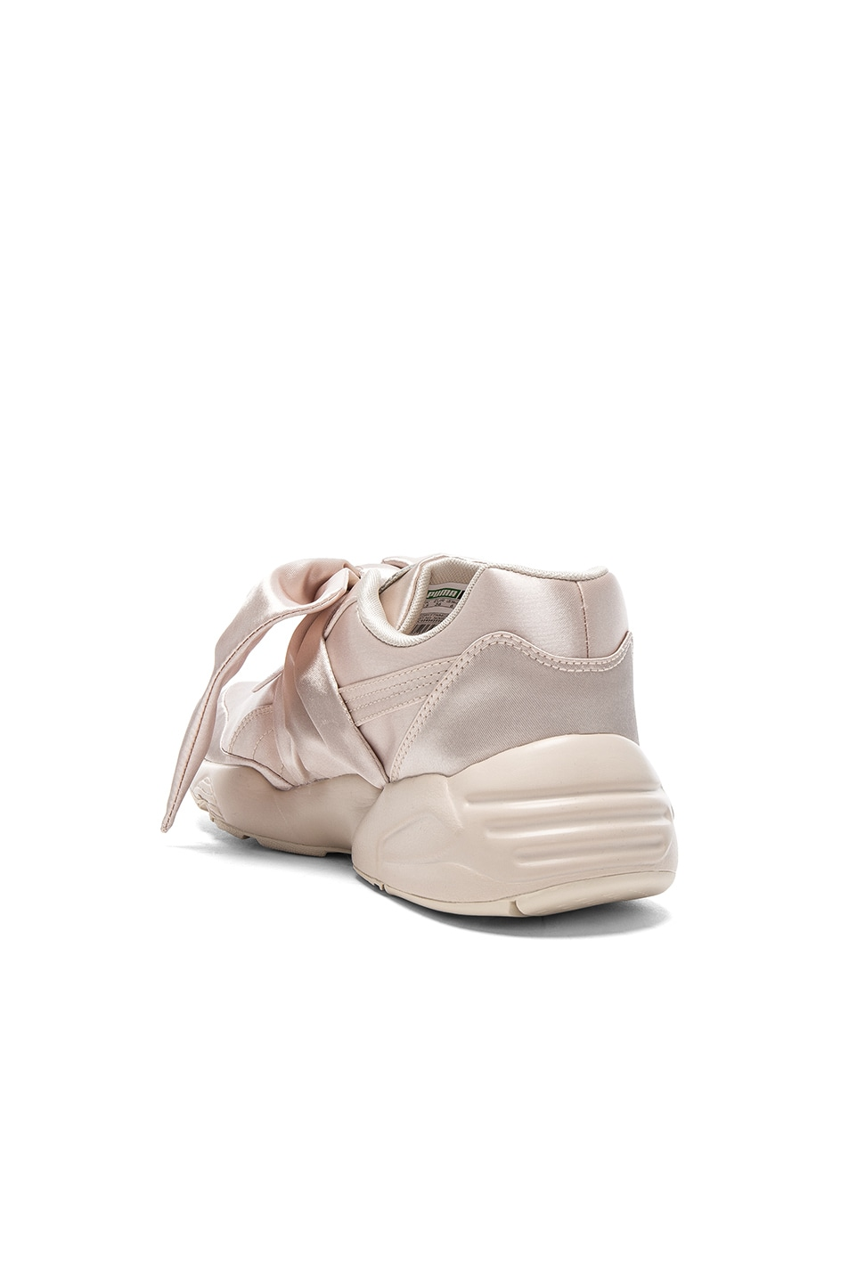 Image 3 of Fenty by Puma Bow Satin Sneakers in Pink Tint