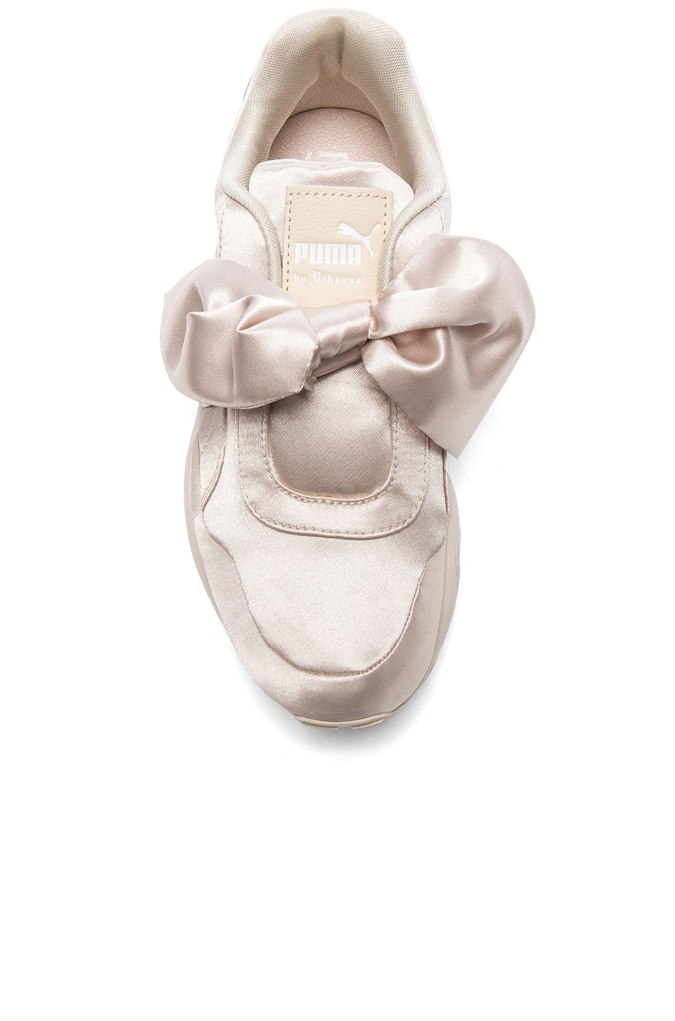 Image 4 of Fenty by Puma Bow Satin Sneakers in Pink Tint