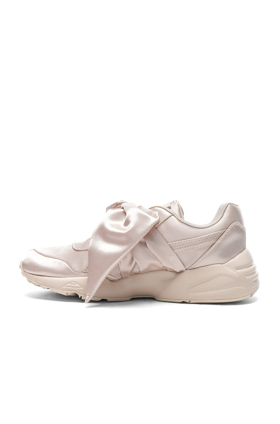Image 5 of Fenty by Puma Bow Satin Sneakers in Pink Tint