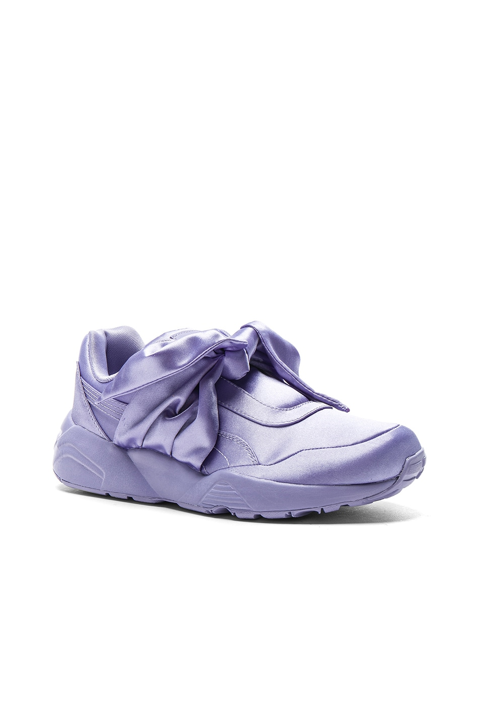Image 2 of Fenty by Puma Bow Satin Sneakers in Sweet Lavender