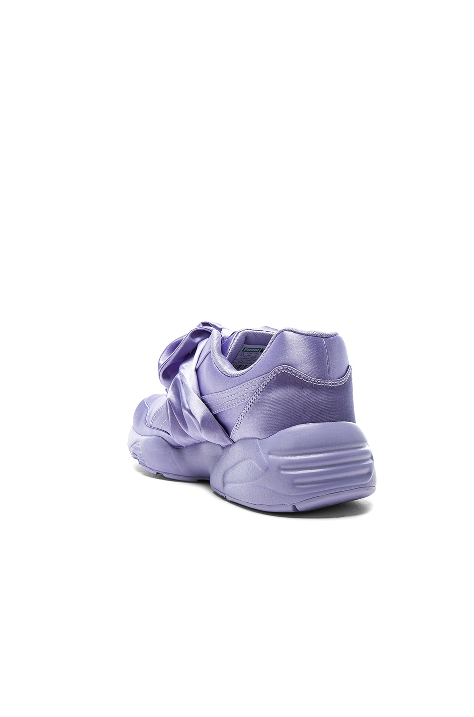Image 3 of Fenty by Puma Bow Satin Sneakers in Sweet Lavender