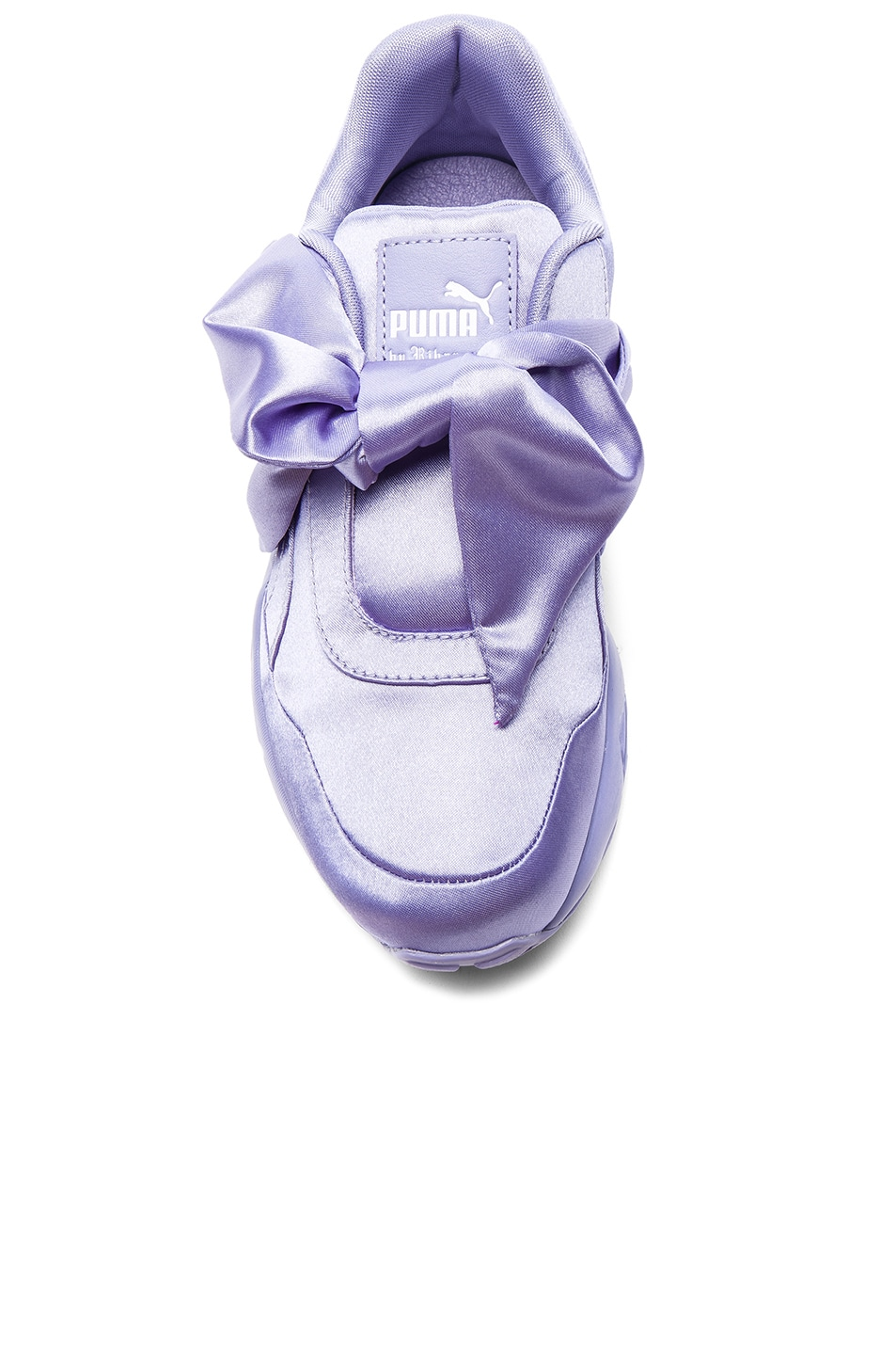 Image 4 of Fenty by Puma Bow Satin Sneakers in Sweet Lavender