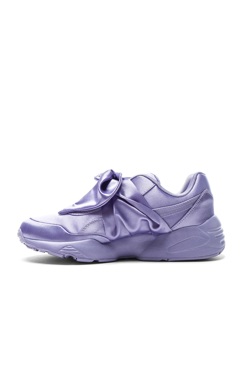 Image 5 of Fenty by Puma Bow Satin Sneakers in Sweet Lavender