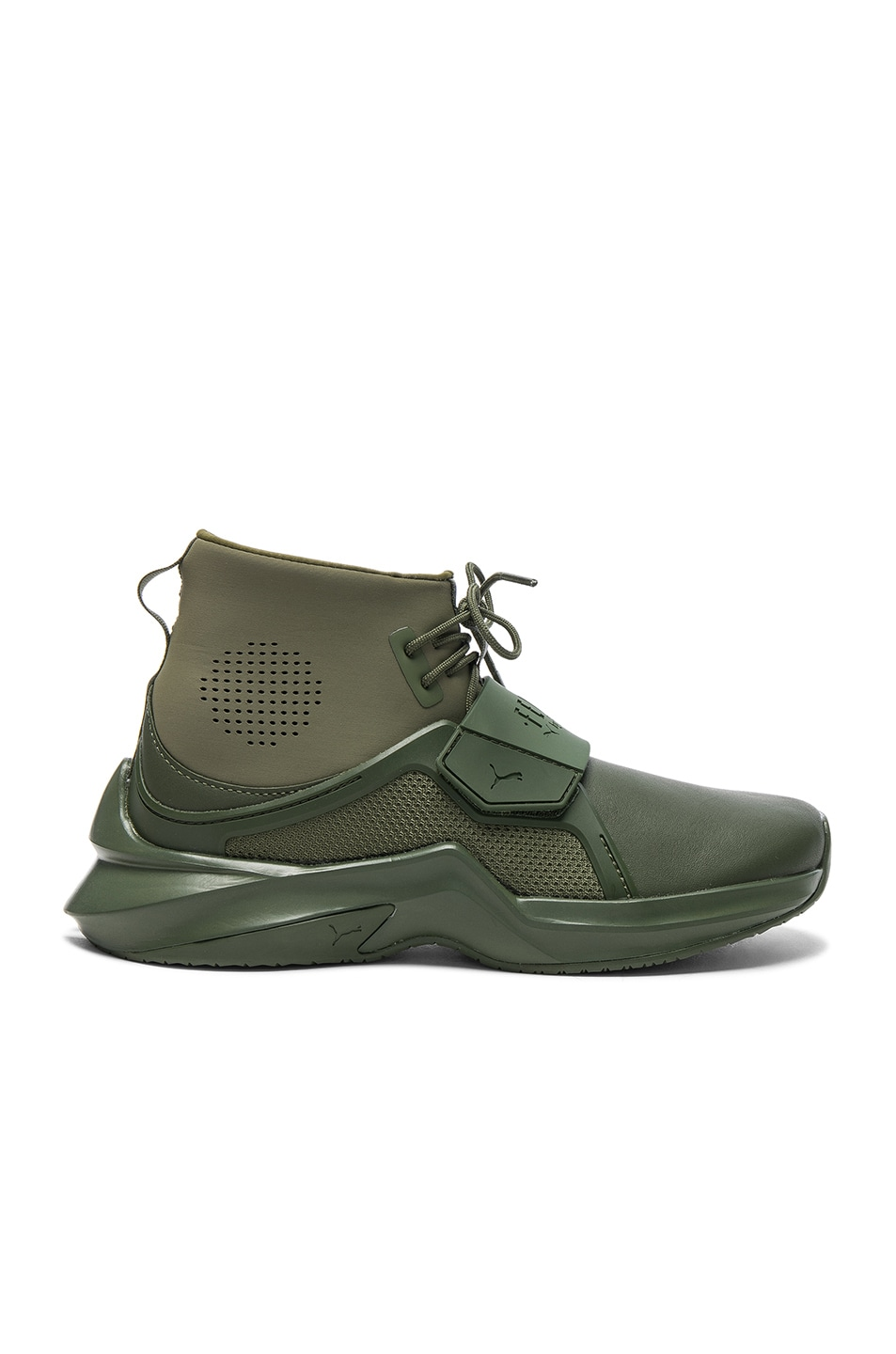 Image 1 of Fenty by Puma Leather Trainer Sneakers in Cypress