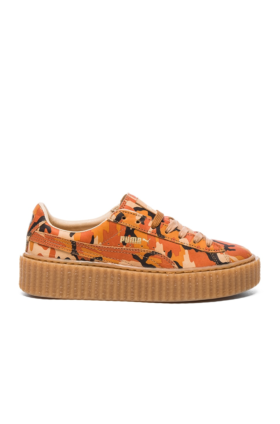 Image 1 of Fenty by Puma Leather Camo Creepers in Orange
