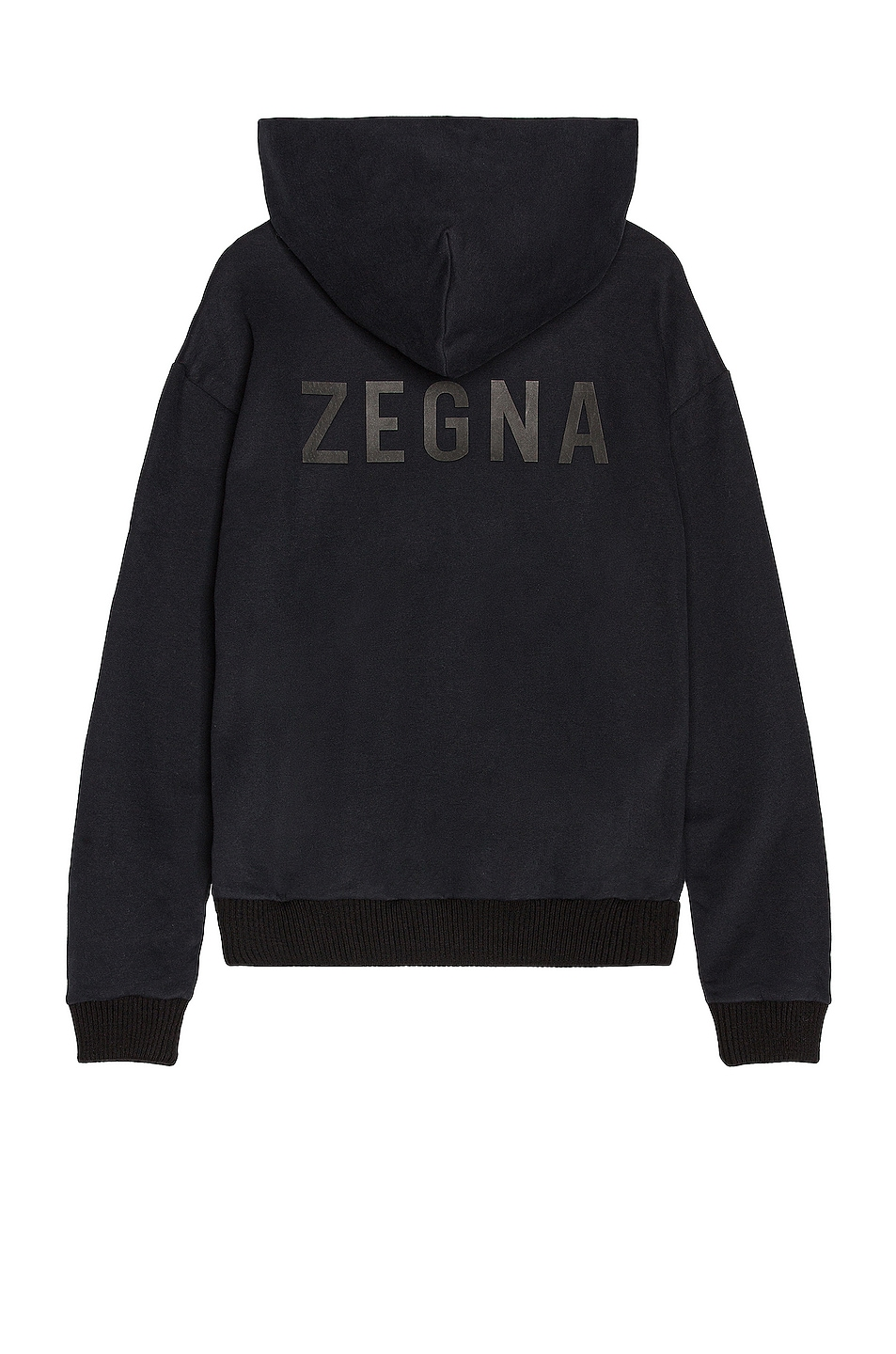 Image 1 of Fear of God Exclusively for Ermenegildo Zegna Slim Fit Hoodie in Black
