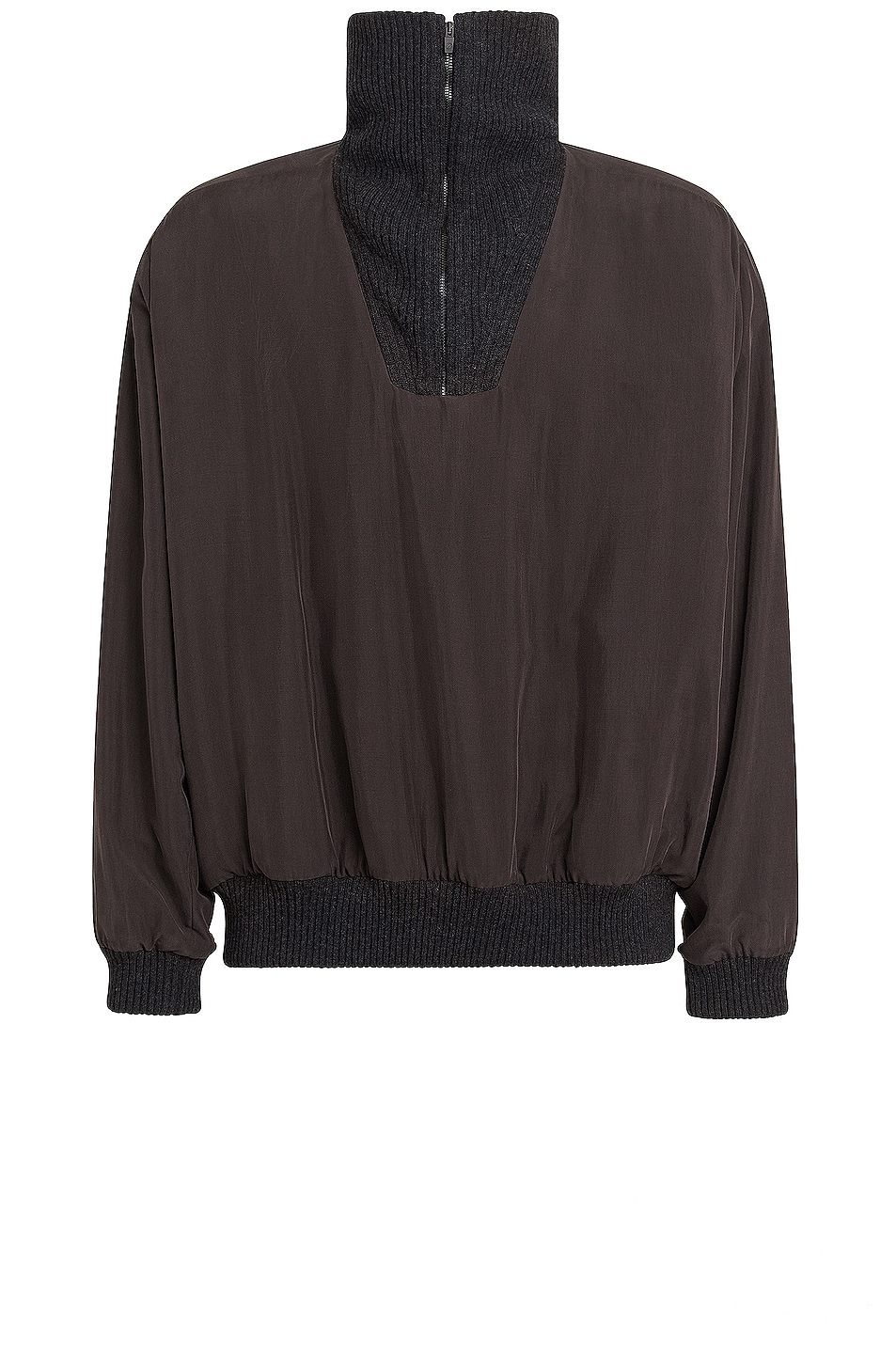 Image 1 of Fear of God Exclusively for Ermenegildo Zegna High Zip Up Anorak in Off Black