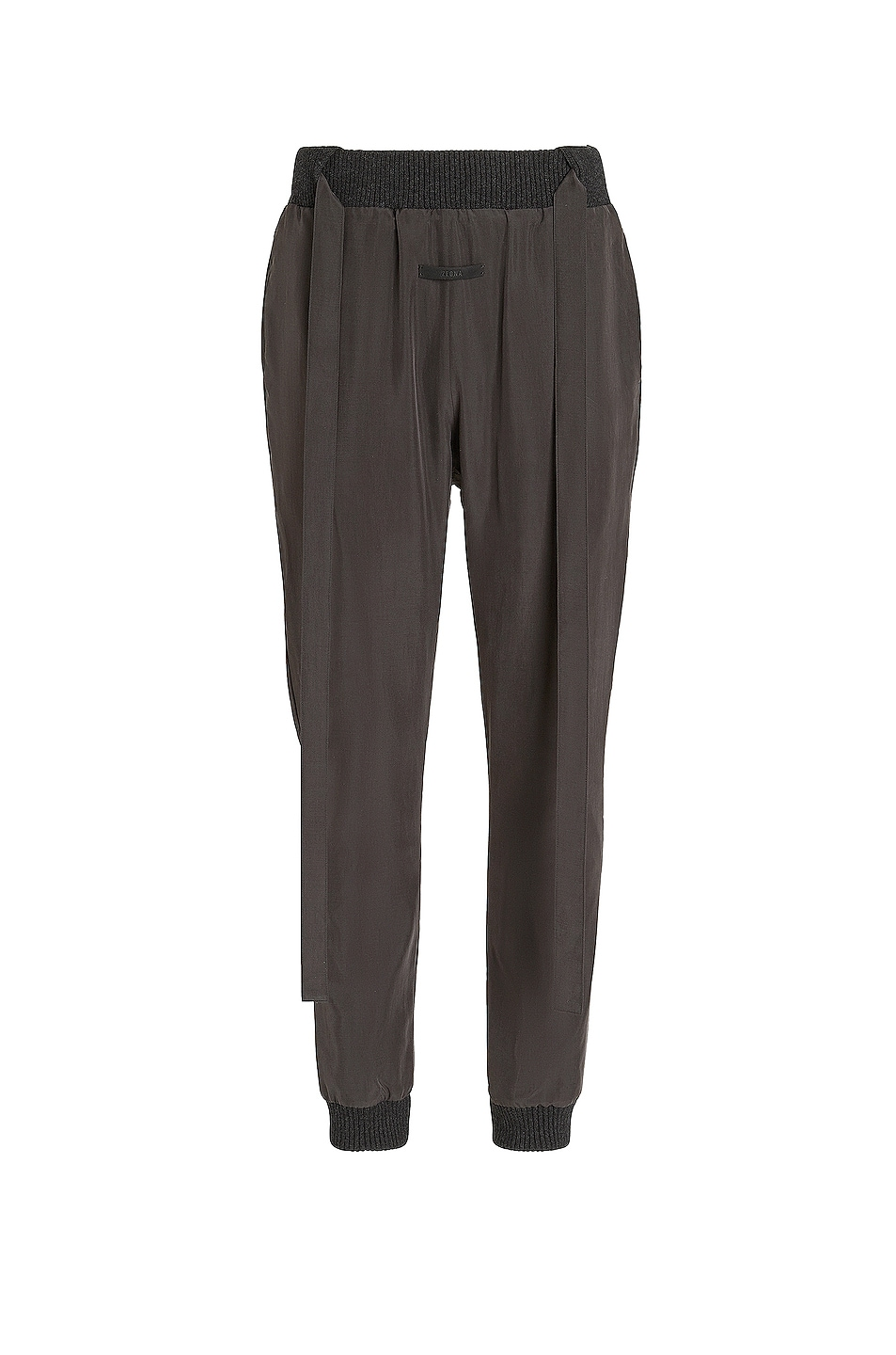 Image 1 of Fear of God Exclusively for Ermenegildo Zegna Silk Trousers in Off Black