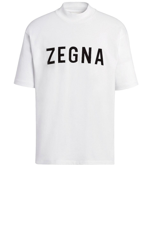 Image 1 of Fear of God Exclusively for Ermenegildo Zegna Oversized Short Sleeve T Shirt in Plaster