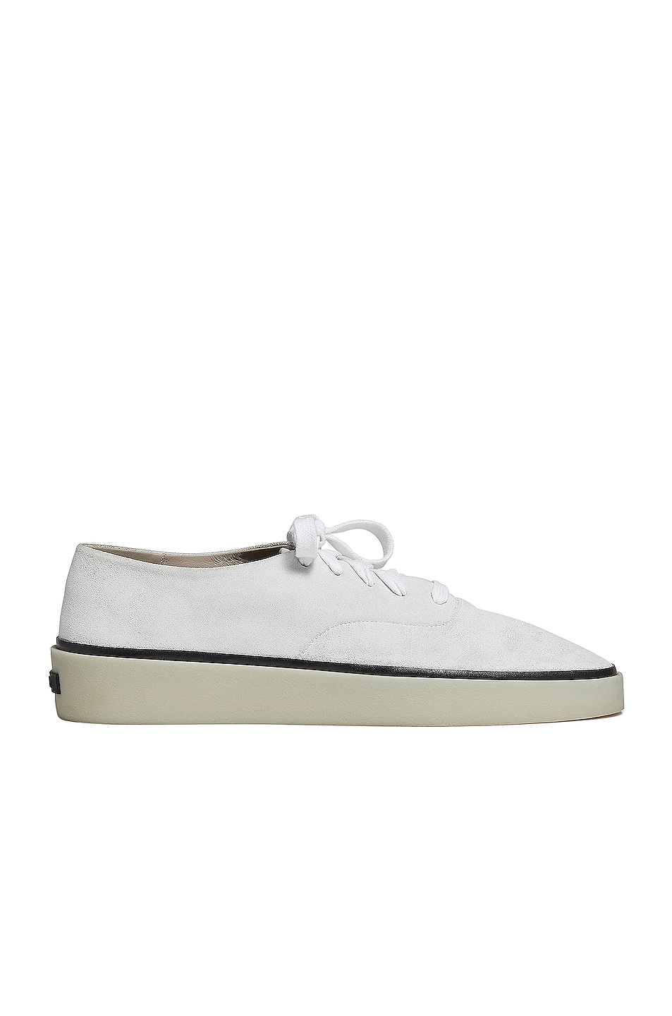 Image 1 of Fear of God Exclusively for Ermenegildo Zegna Suede Leather Laced Sneaker in Off White