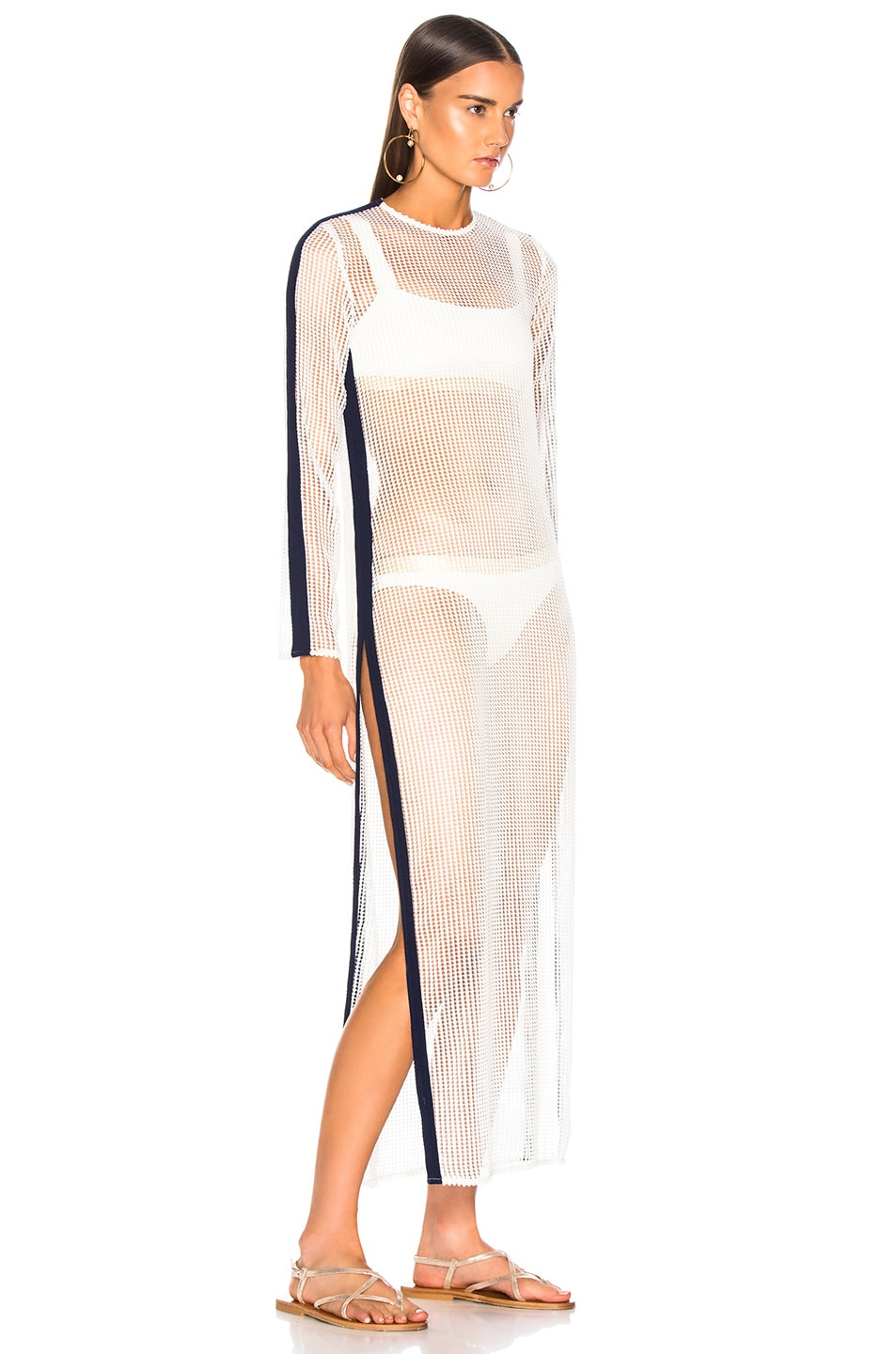 Image 2 of FLAGPOLE Kay Dress in Soft White & North Navy