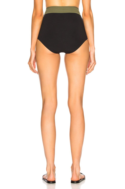 Image 3 of FLAGPOLE Arden High Rise Bikini Bottom in Black & Olive