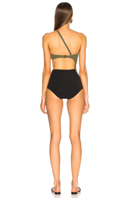 Image 4 of FLAGPOLE Ali Swimsuit in Olive & Black