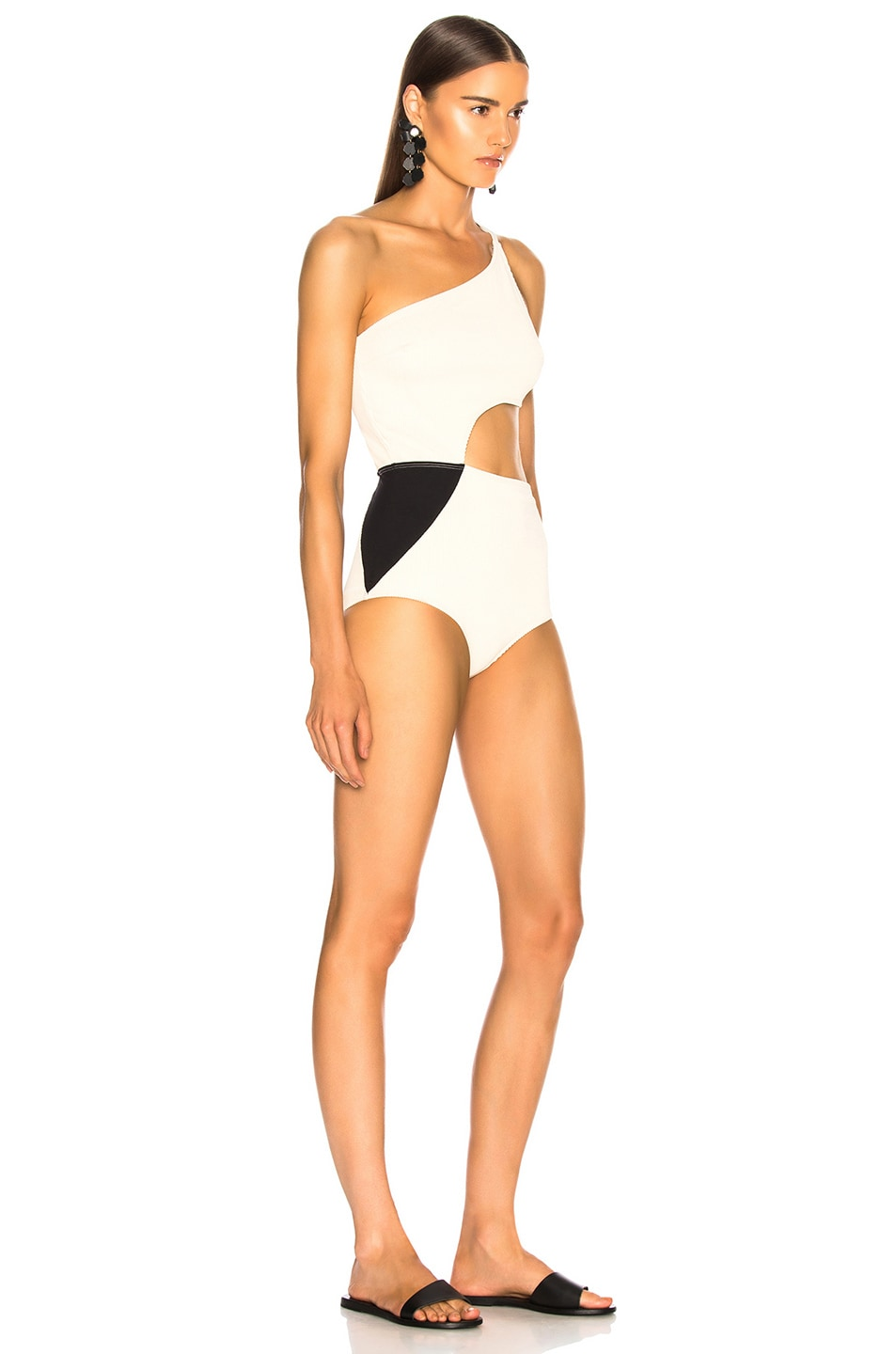Image 2 of FLAGPOLE Ali Swimsuit in Lychee Rib & Black